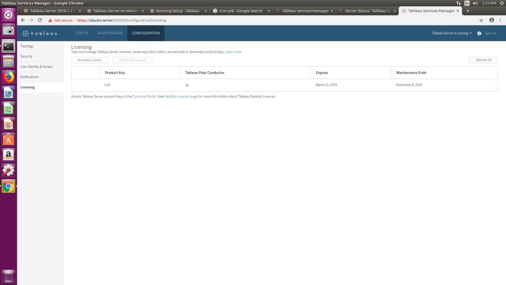 Installing Tableau Server on Linux (Ubuntu LTS 16 04) – Jackson Two